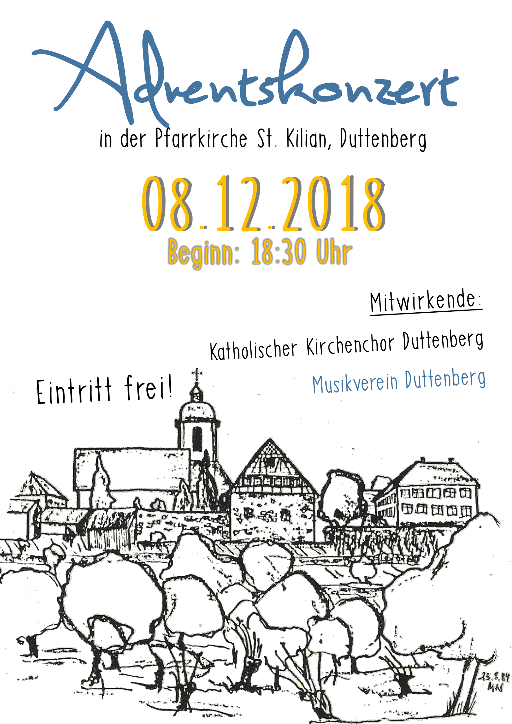 2018 Kirchenkonzert Flyer